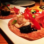 Red corn tacos