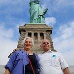At the base of Liberty