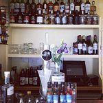 Bar with west lager, selection wines and 44 islay malts