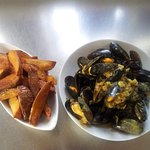 Curried mussells