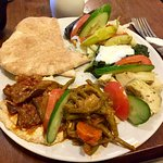 Nice veggie lunch at the Cafe Truva