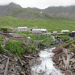 Mining town from waterwheel area