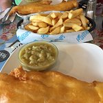 Cod, mushy peas & a bowl of chips