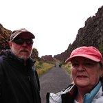 Happy travelers at Thingvillir National Park