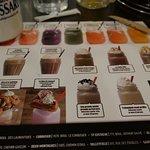 Set de table avec les noms originaux des boissons