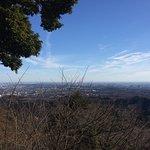登山道中から東京を望む