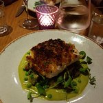 Herb crusted hake with crushed new potatoes