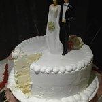 Ijstaart bruidspaar