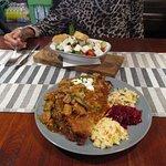 Ruffian Pancake & Greek Salad :)))