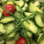 Vegan Sea asparagus salad - Salade végétalienne de salicornes