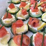 Smoked salmon appetizers - Bouchées au saumon fumé
