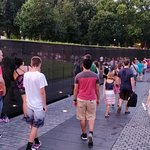 Vietnam memorial - names of war veterans on the wall