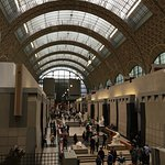 The main hall of the Musee d'Orsay. Wonderful use of an old train station!
