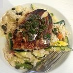The special...blackened Redfish with capers and risotto