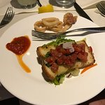 bruschetta and calamari