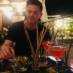 great cocktails, olives and breadsticks