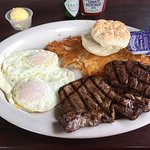 Great steak and eggs plate