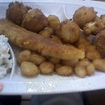 The Nashville Fish and Shrimp. Heavily oversalted, tiny fish portion. Don't waste your money.