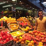 La Boqueria is a famous market located in El Raval with an entrance to the market from Las Rambl
