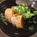 Monk fish liver !! Eggplant special