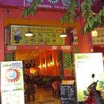 Facade of restaurant.