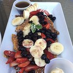 Mac Nut French Toast with added fruit