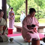 Tea Master overseeing the Tea Ceremony in the Gardens