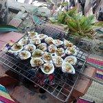 Muscheln auf dem Grill