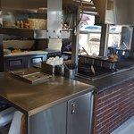Brad's Oak Pit BBQ Area