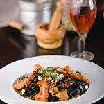 Fresh Tagliatelle with Shrimps and Feta Cheese