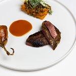 Yorkshire grouse, braised borlotti beans, carrot