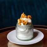 Vanilla soft serve, honeycomb