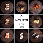 HAPPY HOURS  Sushi -50 % !!! Monday-Friday 5 p.m -7 p.m *only sushi without sets *only in Restau