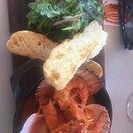 Prawn and scallop dish