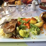 Roast dinner with Sirloin of beef
