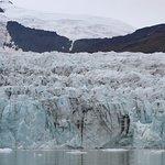 Glacier wall. Lagoon depth about 400'+ at glacier wall