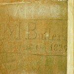 1839 graffiti on the bridge