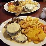 Sirloin Steak with Haggis!