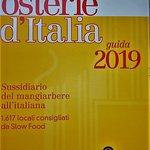 """Per il quinto anno consecutivo sulla Guida """" Osterie d'Italia"""" di Slowfood."""