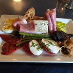 Don't miss the antipasto. White bean puree not shown but so amazing!