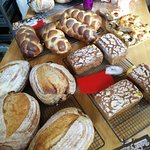 The sourdough breads made in the class! Yum!