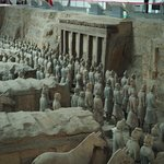 Warriors facing the crypt of Emperor Qin