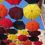 Are with umbrellas in Quartier Petit Champlain