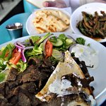 Gyros platter and those GREAT green beans