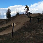 One of the many downhill jumps!!