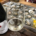 Winter's Hill Estate sparkling wine paired with oysters