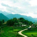 Terraced Rice Fields seen during a trek in SaPa
