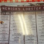 """Menu: Try the """"thick clam chowder""""! Very good"""