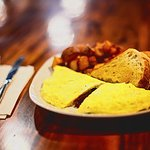 3 Egg Omelet served with Toast and Country Potatoes