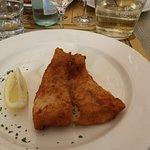 La squisita cotoletta di pesce persico.